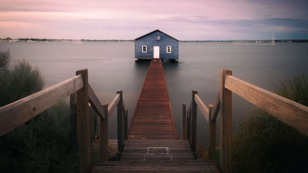 Blue Boat House (Matilda Bay, Australia) wallpaper