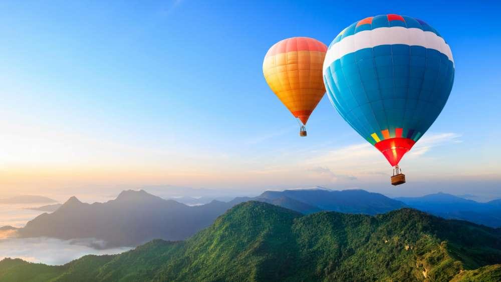 Hot air ballooning wallpaper