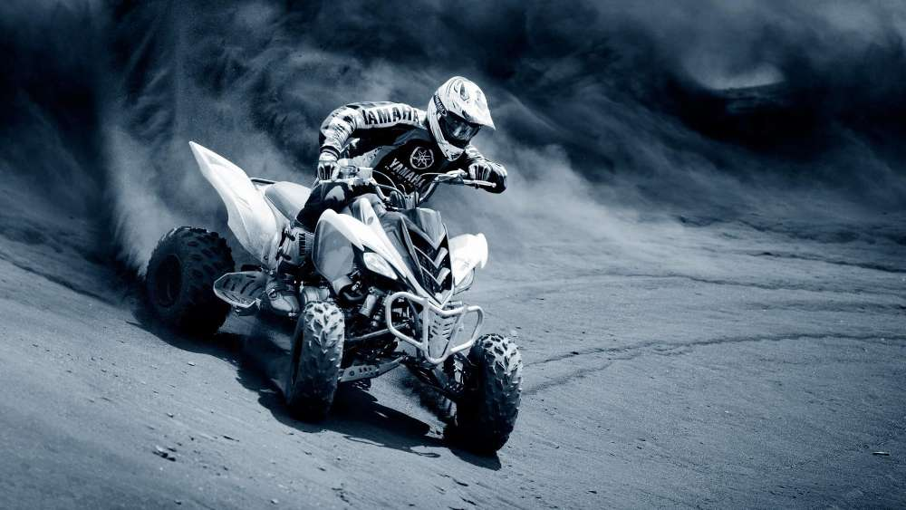 Quad bike desert racing wallpaper