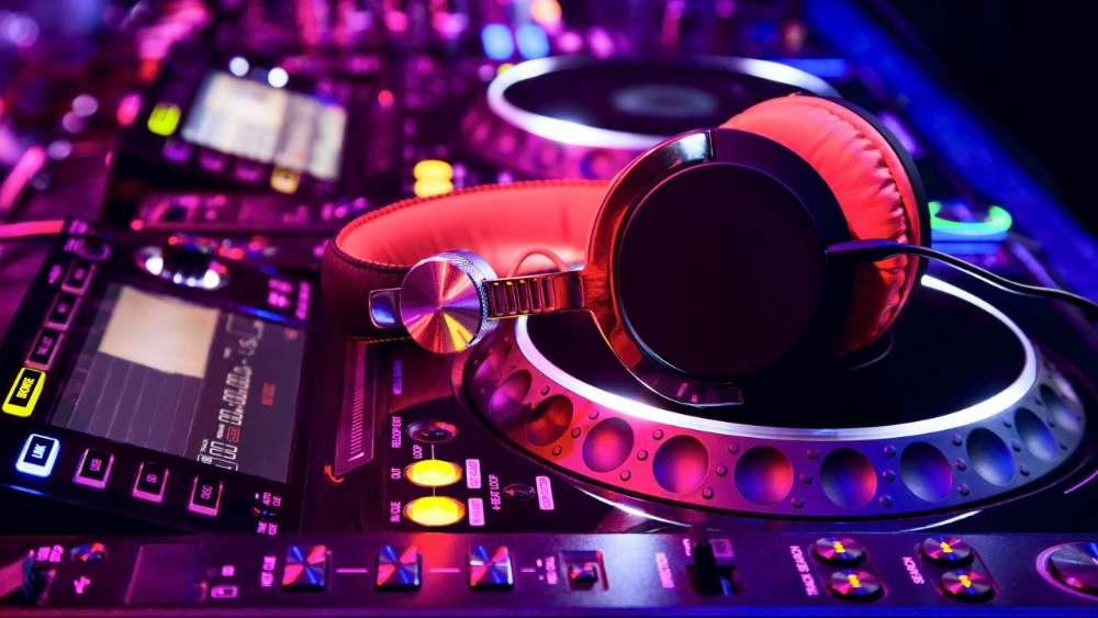 Neon DJ console wallpaper