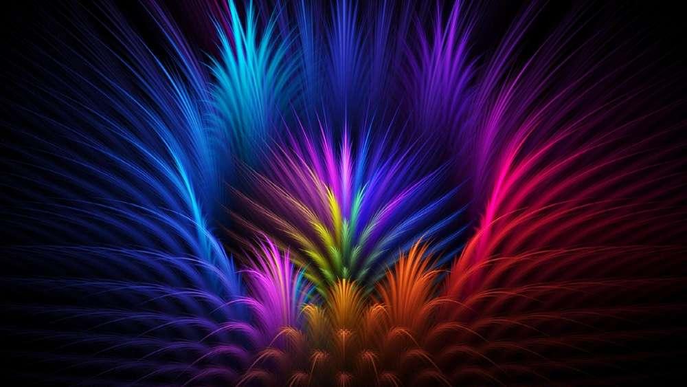 Colorful digital art wallpaper