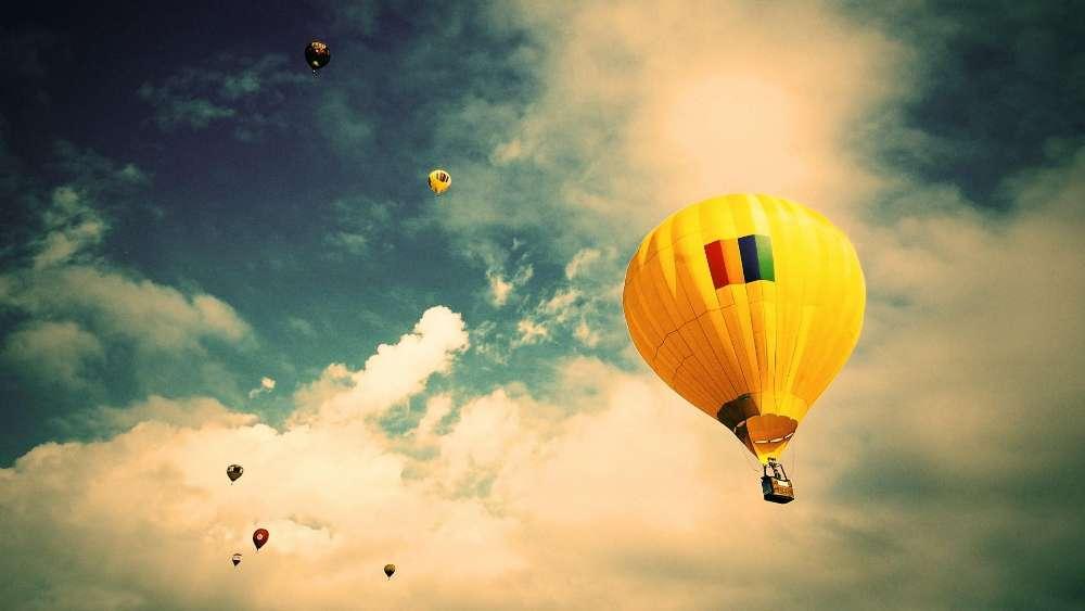 Balloon flight wallpaper