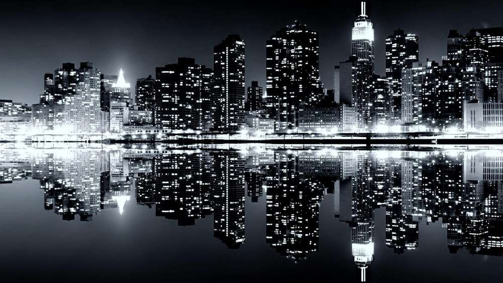 New York City reflection wallpaper