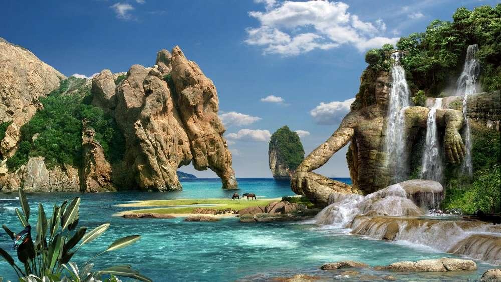 Fantasy paradise wallpaper