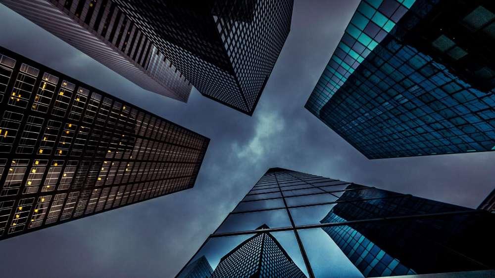Skyscrapers from below wallpaper