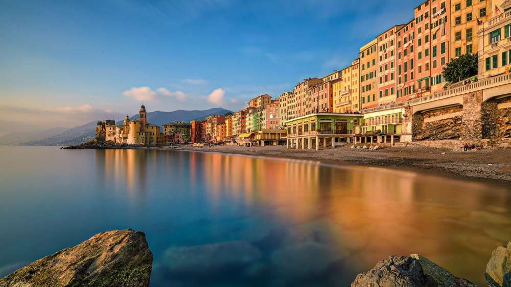 Camogli - fishing village on the Liguria coast wallpaper