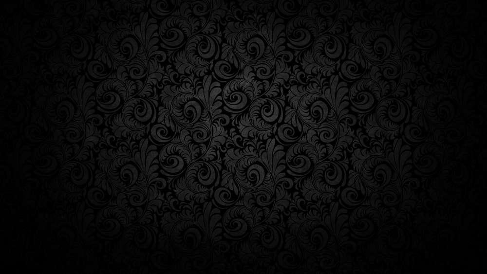 Black wallpaper pattern wallpaper