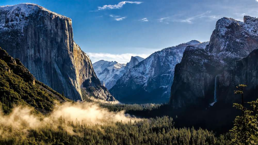 Yosemite Valley and El Capitan, Yosemite National Park wallpaper