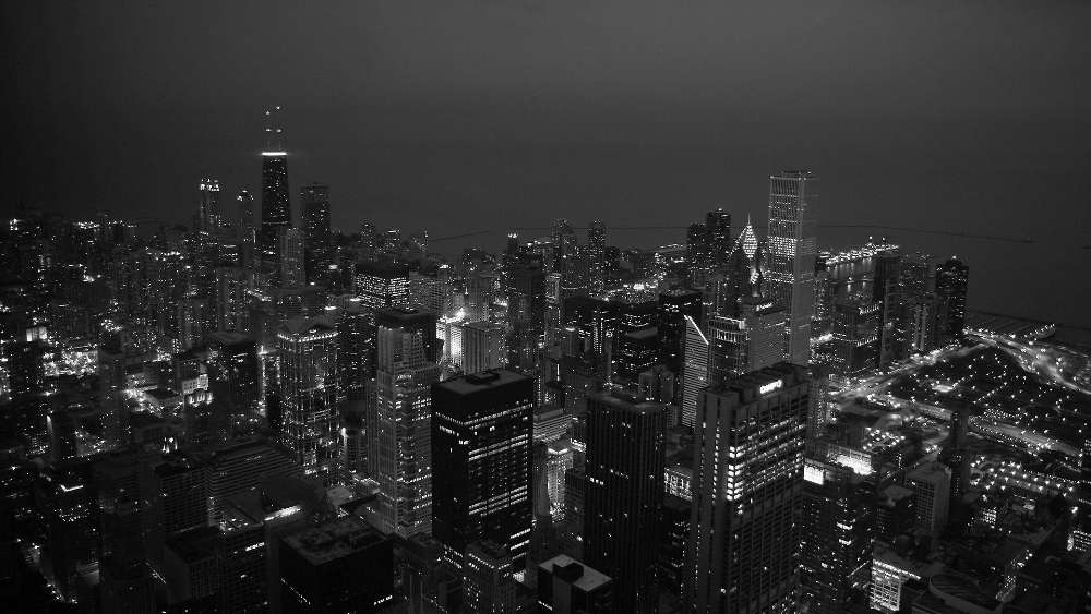 New York City black and white photograph wallpaper