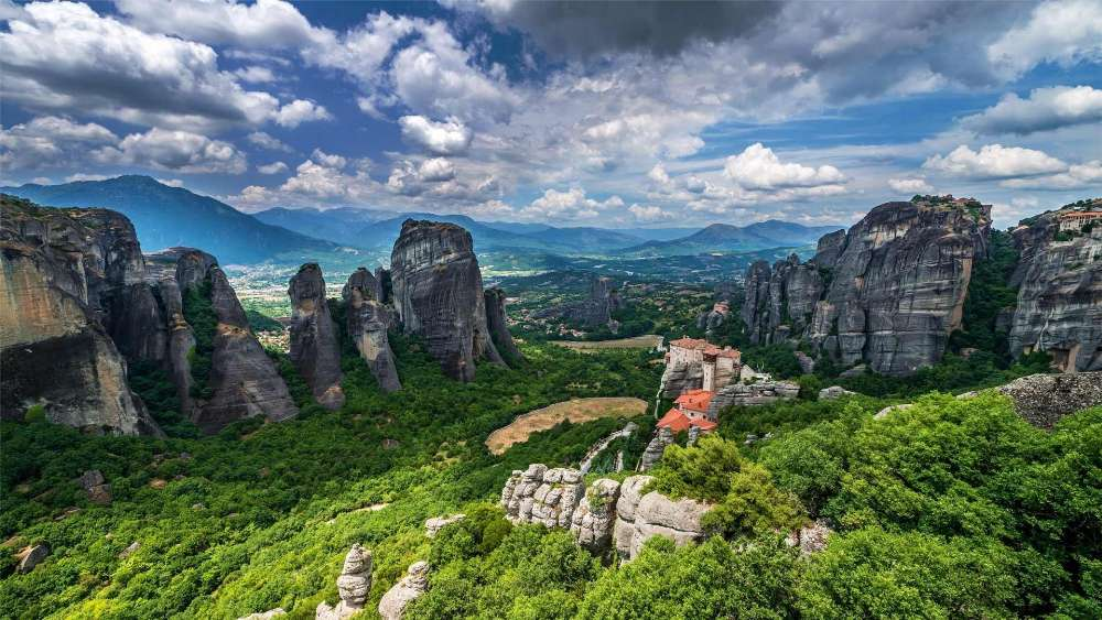 Monastery of Rousanou, Meteora wallpaper