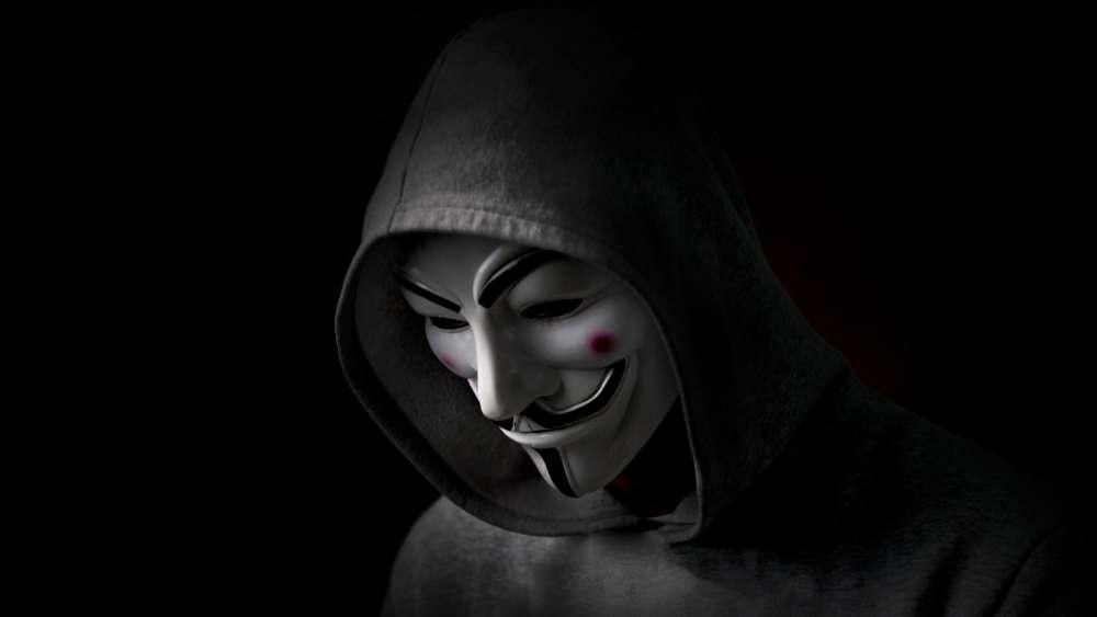 Hacker Mask (Anonymous) wallpaper