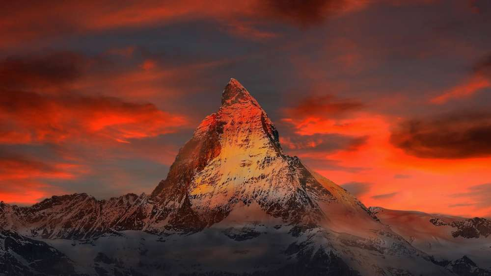 Matterhorn in the sunset wallpaper