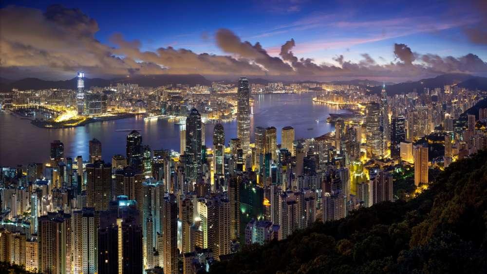 Hong Kong from Victoria Peak wallpaper