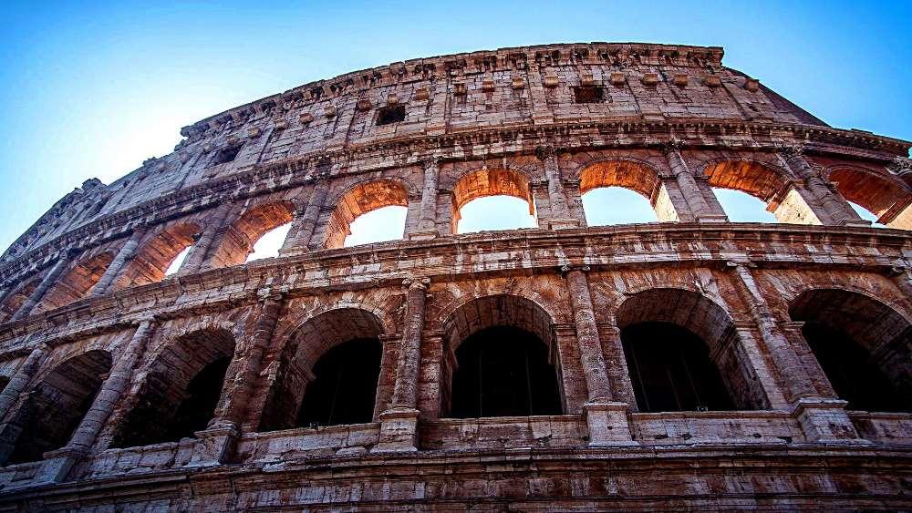 Colosseum low angle photo wallpaper