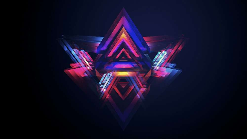 Colorful triangles graphic design wallpaper