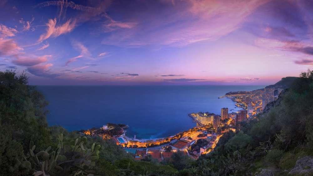 Monte-Carlo at dusk wallpaper