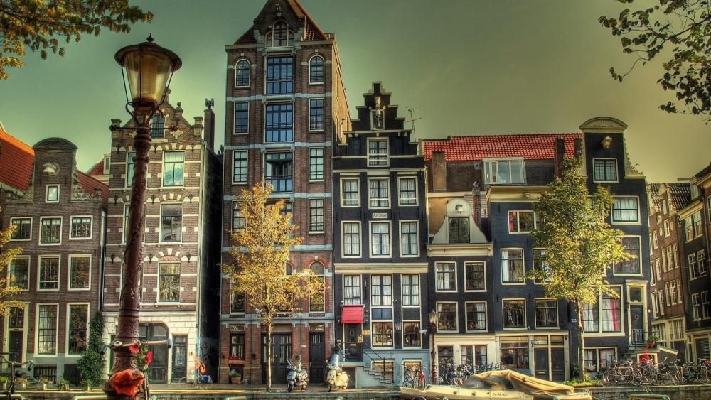 Amsterdam buildings wallpaper