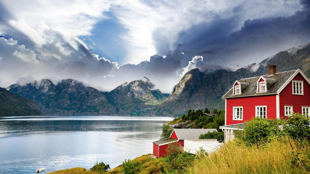 Scandinavian landscape wallpaper