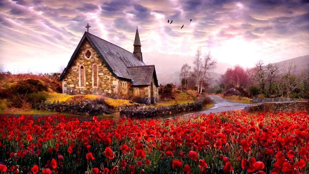 Derrycunnihy Church - Killarney National Park wallpaper