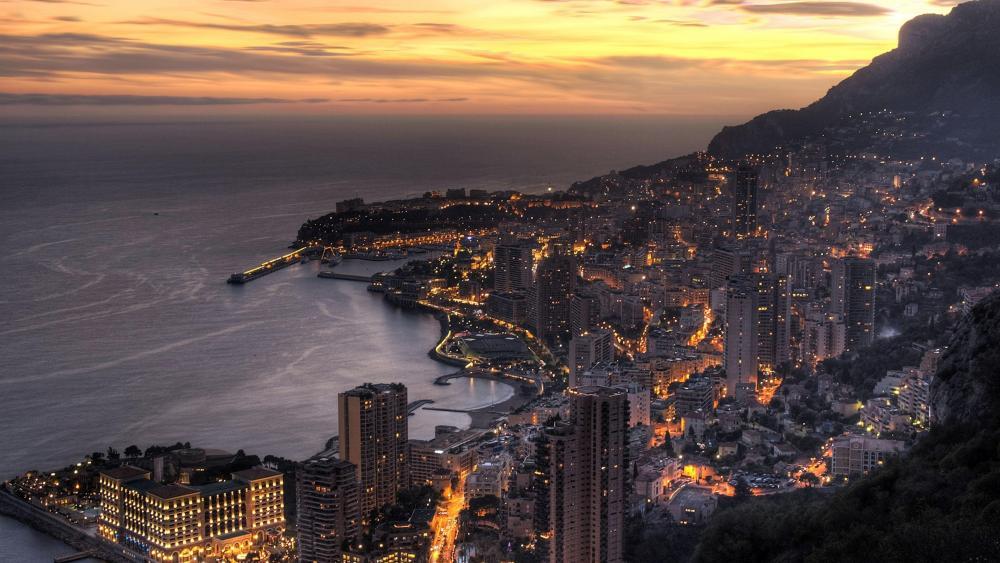 Monte-Carlo at the French Riviera, Monaco wallpaper