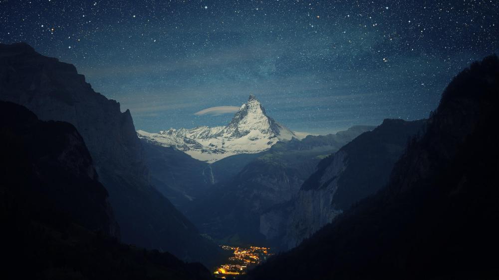 Matterhorn over Zermatt wallpaper