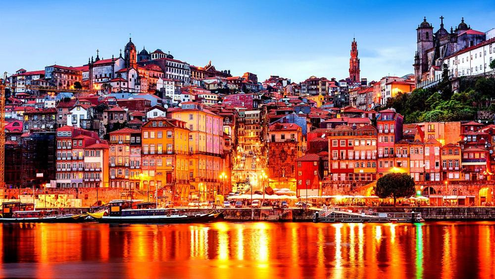 Douro River view of  Porto, Portugal wallpaper