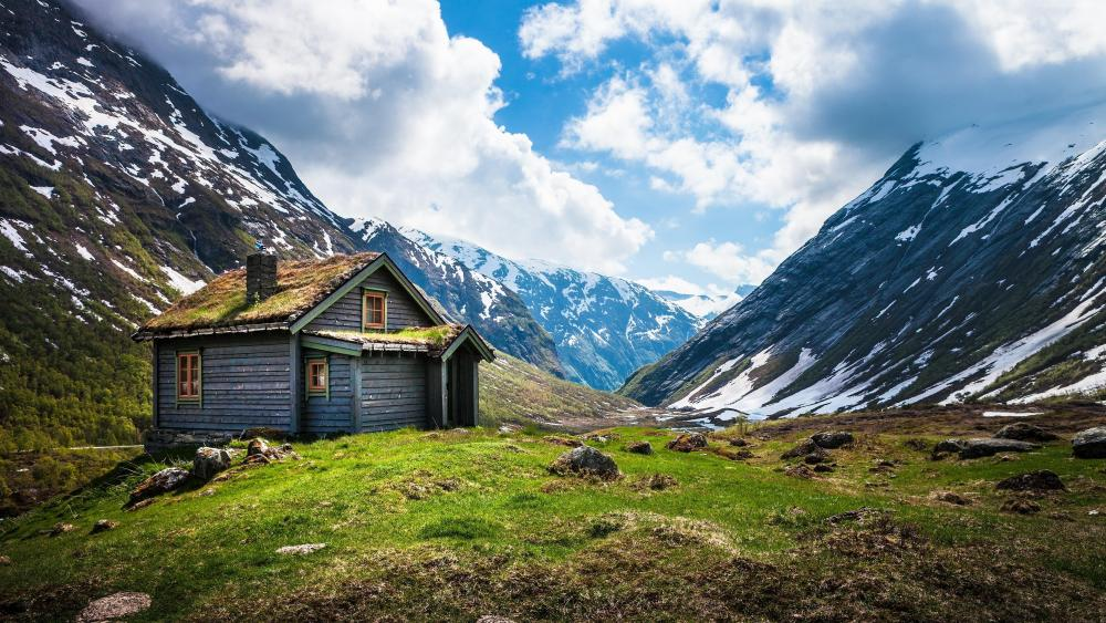 Cabin in Norway wallpaper