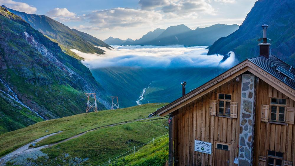 Pitztal valley and Taschachhaus, Austria wallpaper