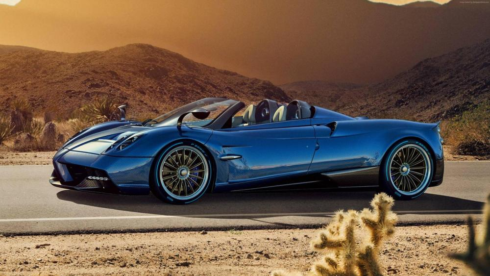Blue Pagani Huayra Roadster wallpaper