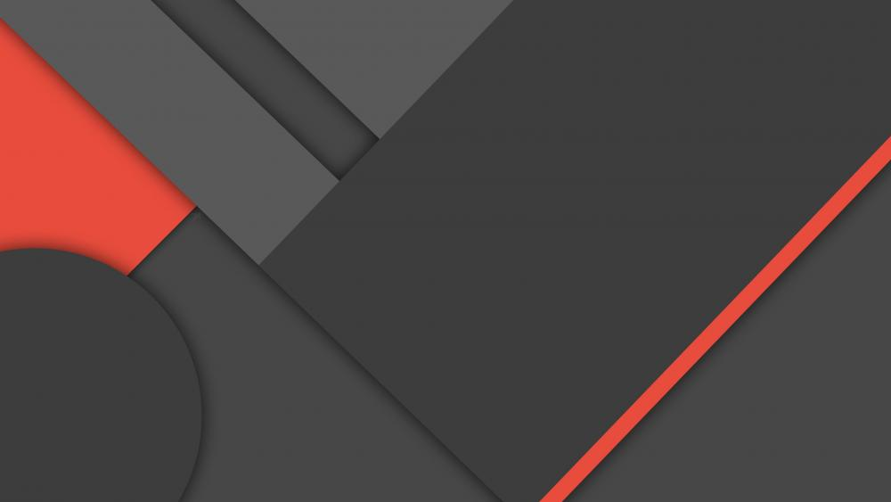 Red and gray material design art wallpaper