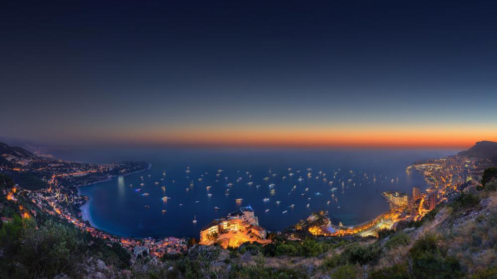 Monte-Carlo at night wallpaper