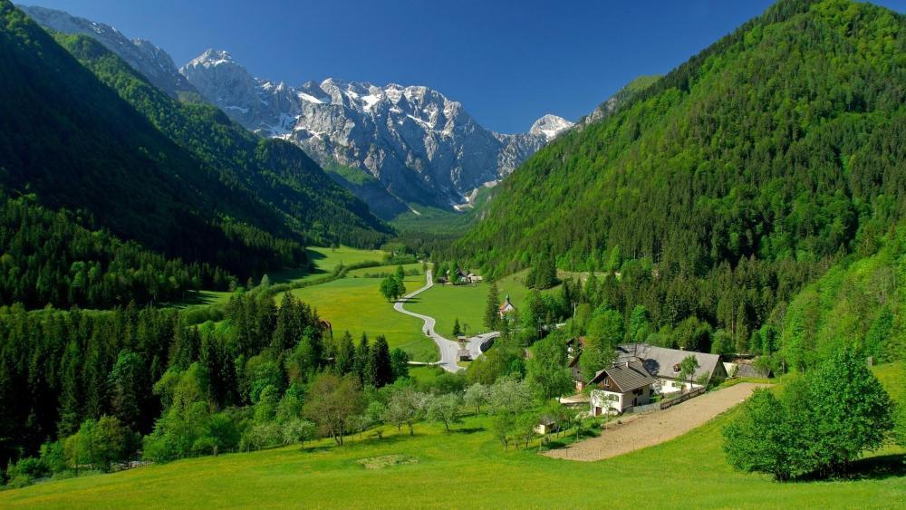 Logar Valley, Slovenia wallpaper