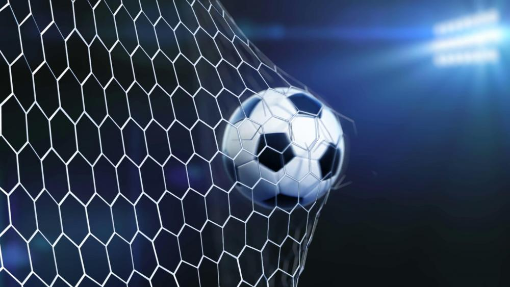 Soccer ball goal wallpaper