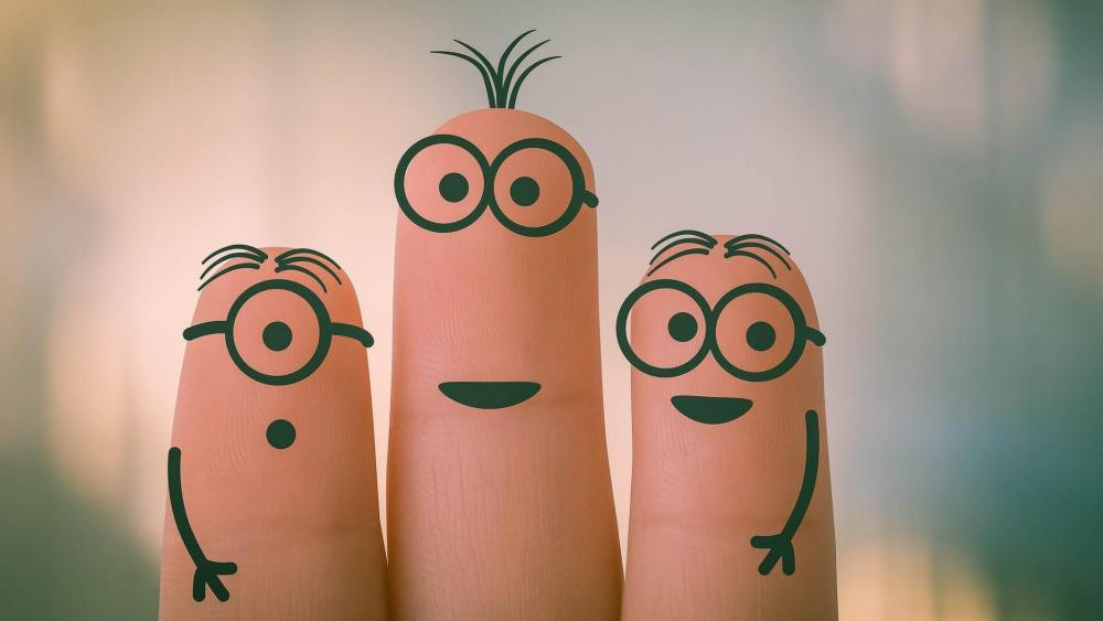 Funny fingers wallpaper