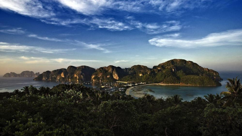 Phi Phi Island viewpont panorama wallpaper