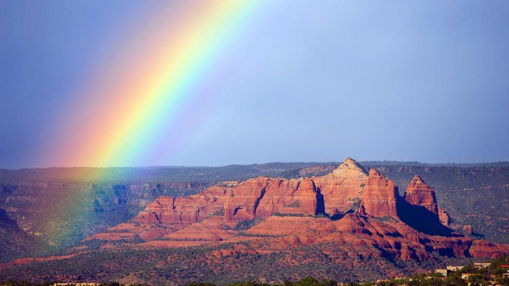 Rainbow over Sedona  wallpaper