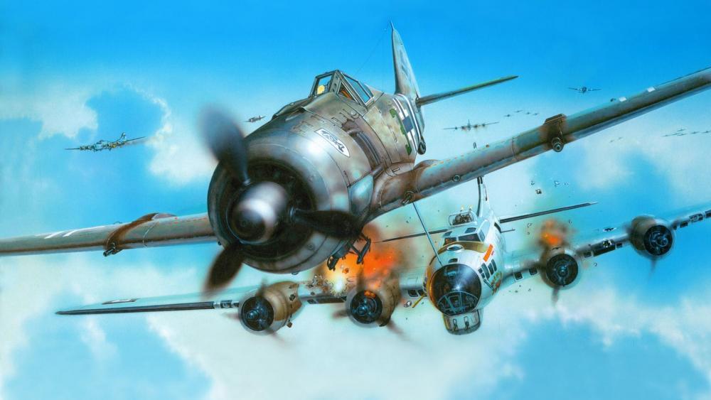 Focke-Wulf 190 aviation art wallpaper