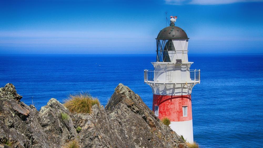 Cape Palliser lighthouse, New Zealand wallpaper
