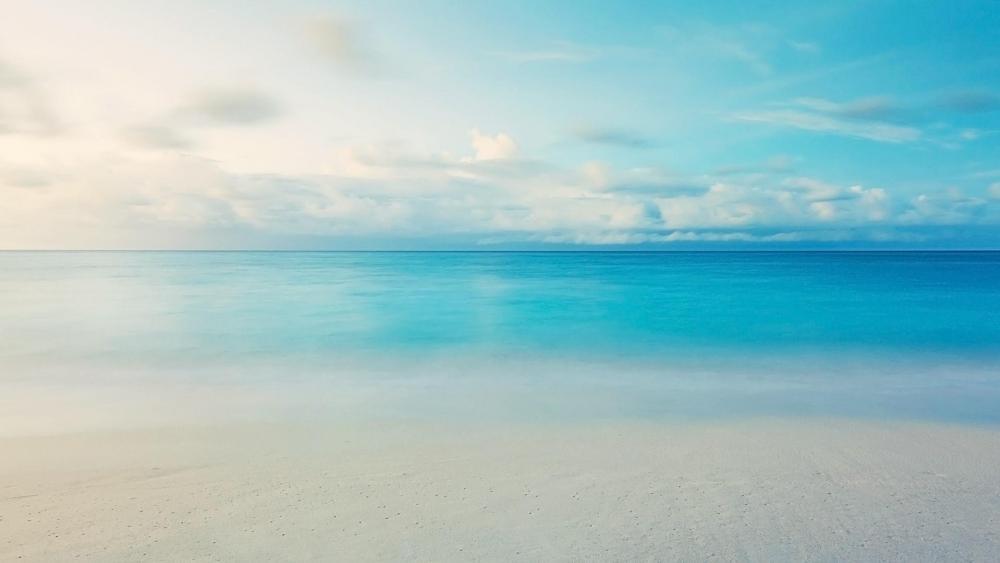 Blue ocean horizon wallpaper