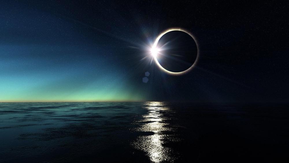 Lunar eclipse  wallpaper