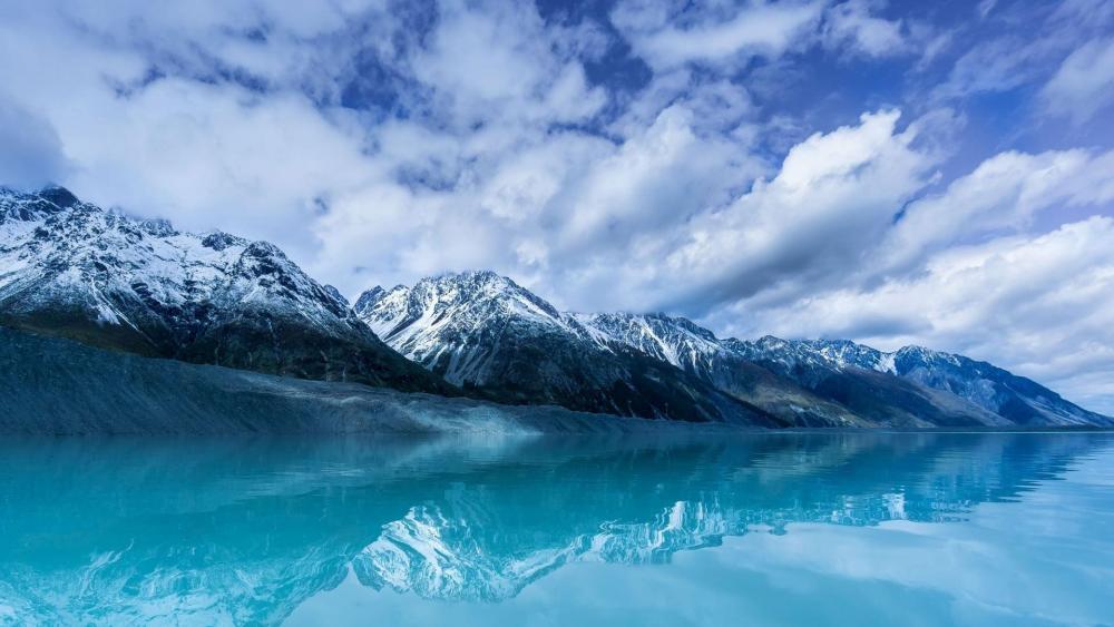 New Zealand - Tasman Glacier lake wallpaper