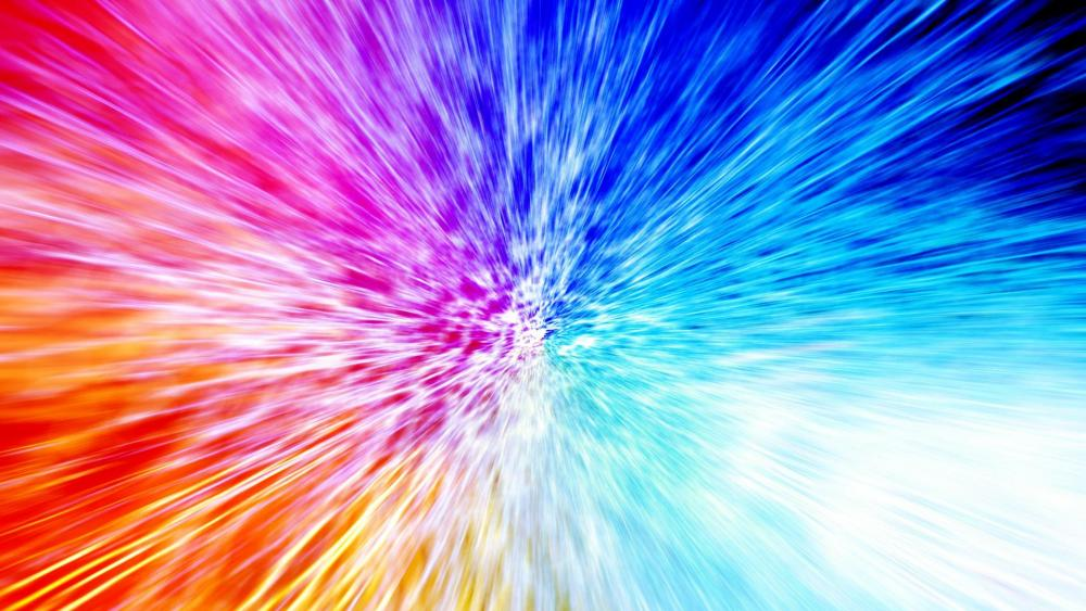 Colorful explosion digital art wallpaper