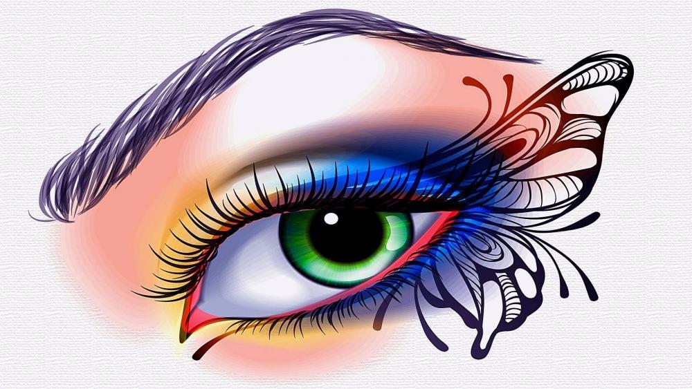 Butterfly eye tattoo ️ wallpaper