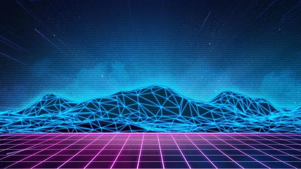 Retrofuture digital art wallpaper