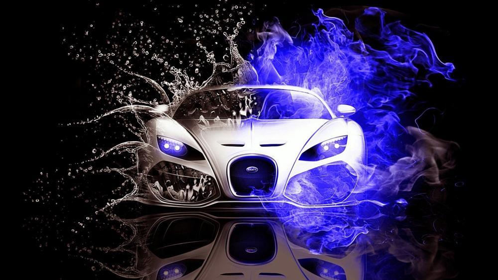 Bugatti Veyron sports car wallpaper