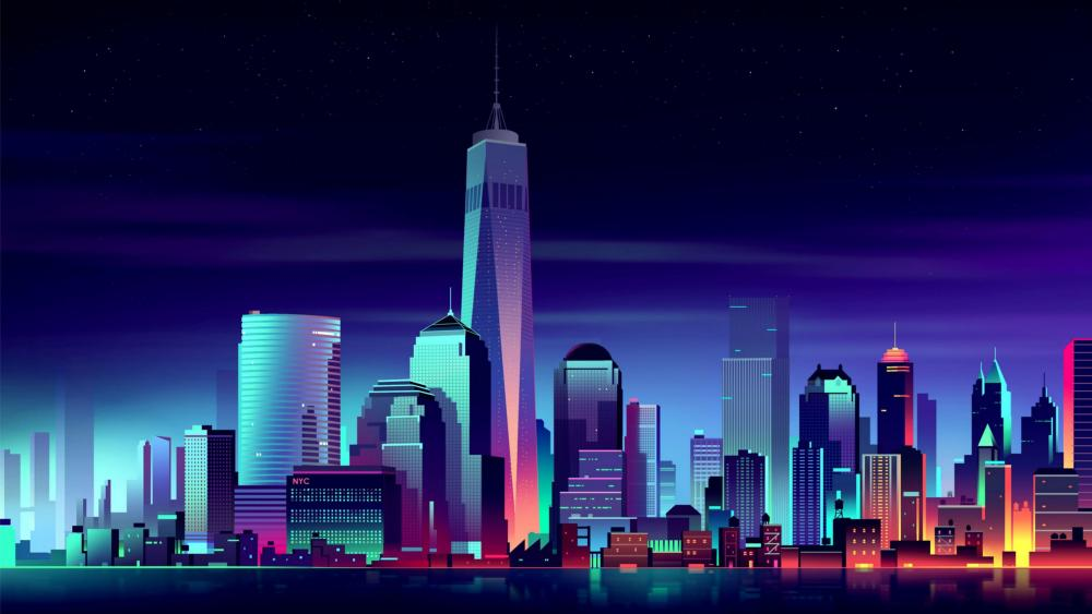 One World Trade Center - Futuristic art wallpaper