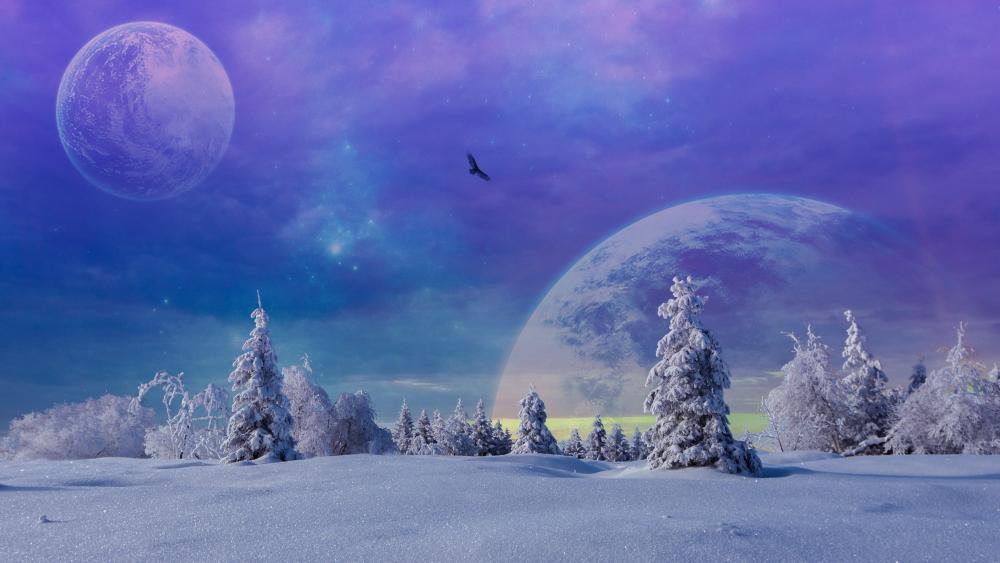 Fantasy winter ❄️ wallpaper