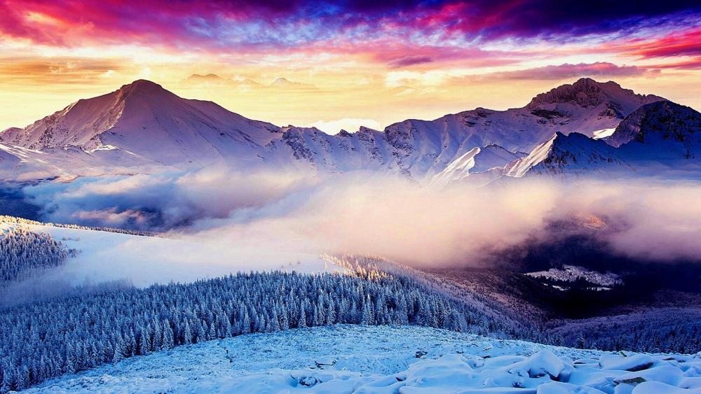Swiss Alps breathtaking photo ☁️ wallpaper
