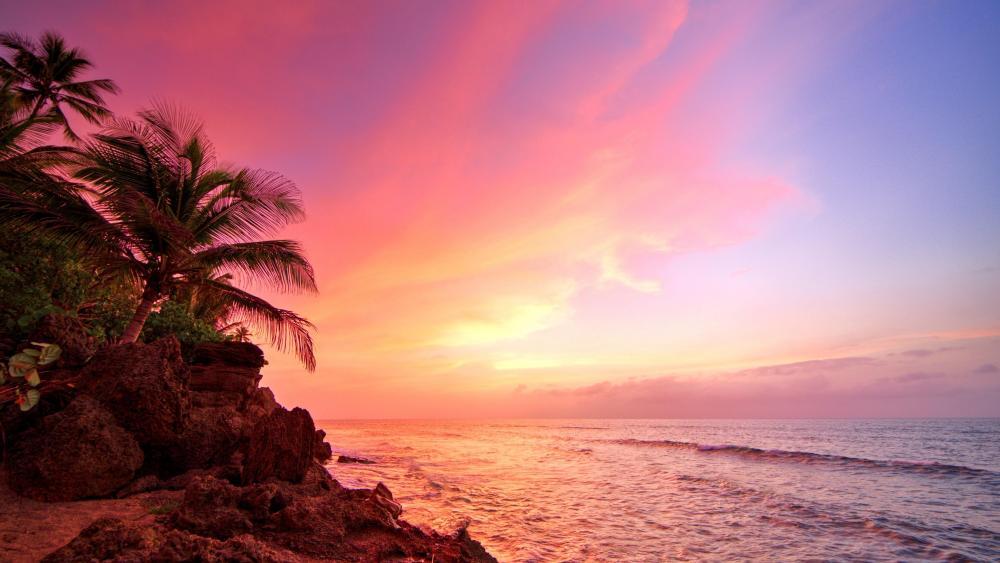 Sunset in Puerto Rico  wallpaper