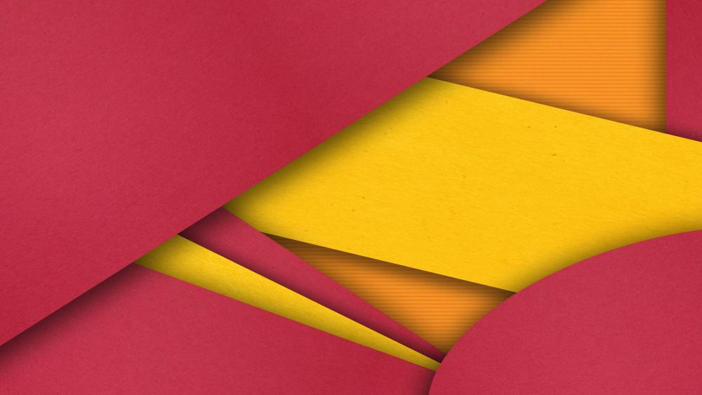 Cool red and orange material design artwork wallpaper